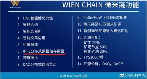 wen和weni将会进行映射至微米链